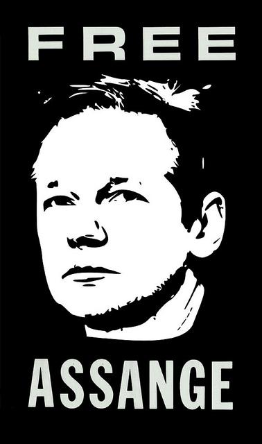 Free Assange –kertomus arvostelukyvystä ja sen puutteesta. Lähde: Flickr.