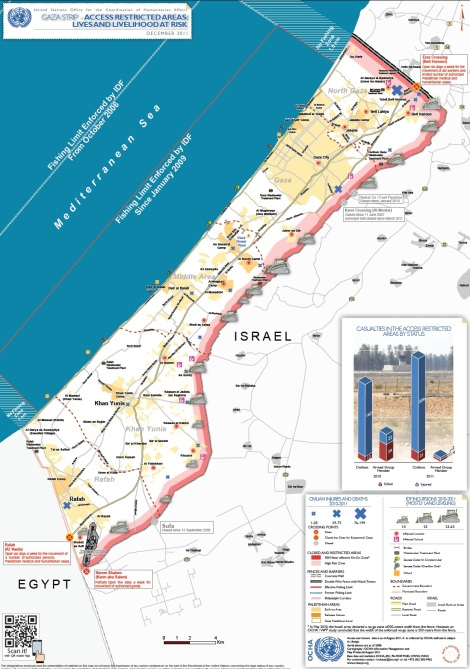United Nations Office for the Coordination of Humanitarian Affairs - Gaza Strip Access and Closure - December 2011