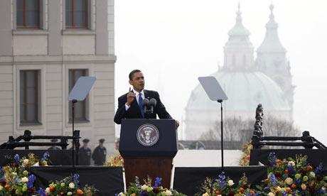 Obama visioi Prahassa ydinaseetonta maailmaa