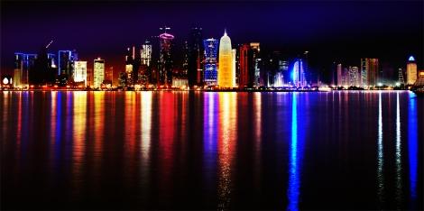 Doha yöaikaan. Kuva: Wikipedia.