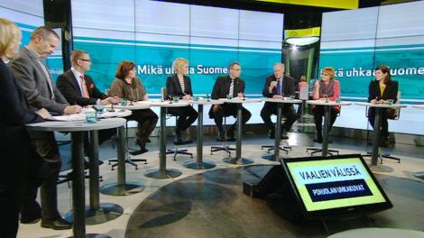 Kansanedustajat keskustelivat turvallisuuspolitiikasta keskiviikkona 12.3. Kuva: Yle.