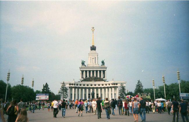 Kansantalouden saavutusten näyttelyn paviljonki Moskovassa ei ole muuttunut.
