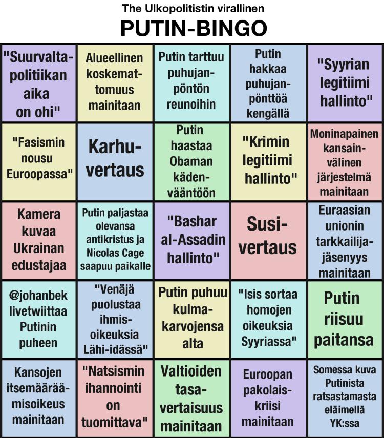 Putin bingo