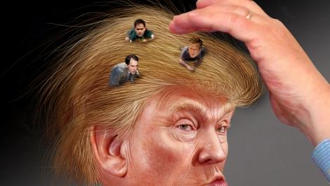 Donald Trump ja muut ehdokkaat. Kuva: DonkeyHotey / Flickr.