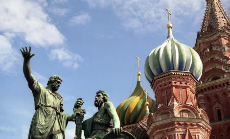 Denkmal von Minin und Possharski (1818), die Befreier von Moskau 1612