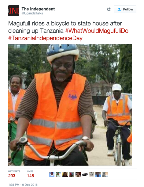 Tältä näyttää Tansanian hipsteripresidentti Magufuli