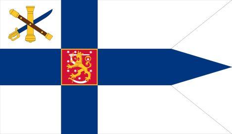 Suomen puolustusvoimien komentajan käyttämä valtiolippu.