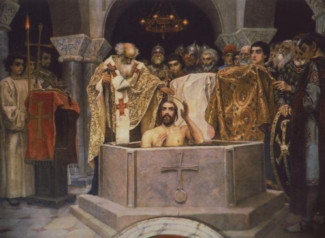 Viktor Vasnetsov: Prinssi Vladimirin kaste (yksityiskohta), 1885–1893.