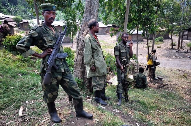 M23 ryhmittymän joukkoja Bunaganassa. Kuva: Wikimedia